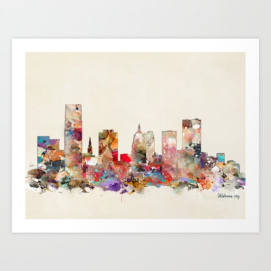 oklahoma city oklahoma Art Print