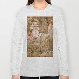 Vintage & Shabby Chic - Victorian ladies pattern Long Sleeve T-shirt