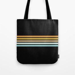 Retro Sunshine Stripes Tote Bag