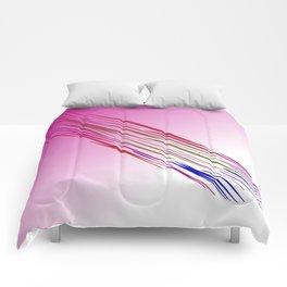 wild lines tiger pink Comforters