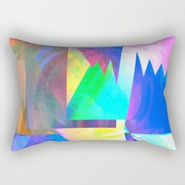 Pastel City Dreamscape Rectangular Pillow
