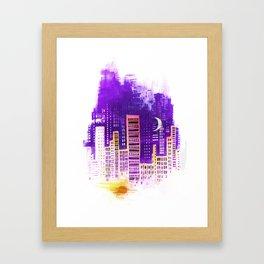 THE CITY THAT NEVER SLEEPS Framed Art Print