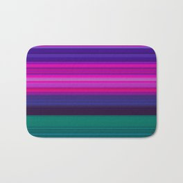 Vibrant Purple Pink and Green Stripes Badematte