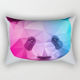 Polygon Panda Bear Rectangular Pillow