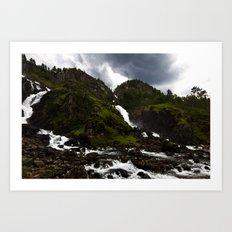 Norwegian Waterfalls Art Print