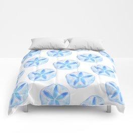 Mermaid Currency - Blue Sand Dollar Comforters