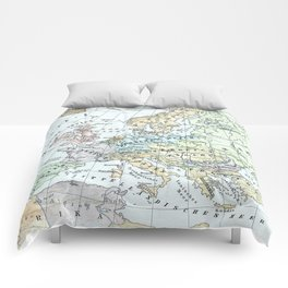 Vintage Map of Europe (1899) Comforters
