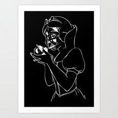 Snow Vader Art Print