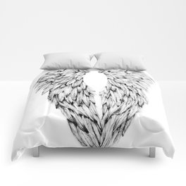 Black and White Angel Wings Comforters