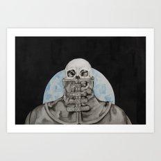 Cloak of Night Art Print
