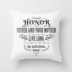 The Fifth Commandment Throw Pillow
