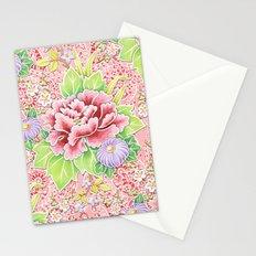 Pink Paisley Kimono Bouquet Stationery Cards