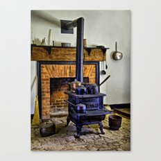 Wood Stove (Painted) Canvas Print