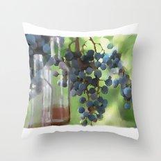 niagara wine country / grapes  / digital painting Throw Pillow