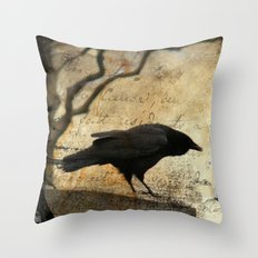 Crow Caws Throw Pillow