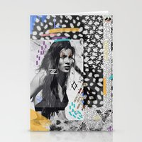kate moss Stationery Cards featuring KATE MOSS TRIBE by Vasare Nar