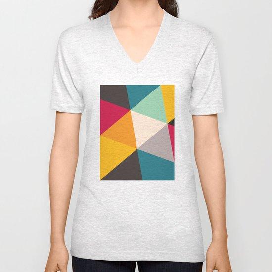 Geometric Triangles Unisex V-Neck