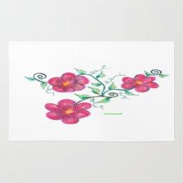 Three Flowers Rug