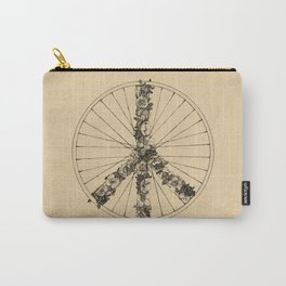 Peace & Bike (Lines) Carry-All Pouch