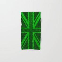 Grass Britain / 3D render of British flag grown from grass Hand & Bath Towel