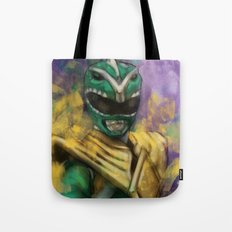 Green Mighty Morphin Power Ranger Tote Bag