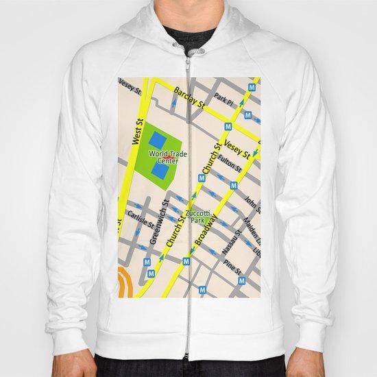 NEW YORK map design Hoody