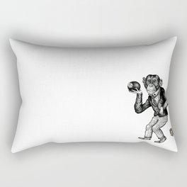 The Thinker & The Ape Rectangular Pillow