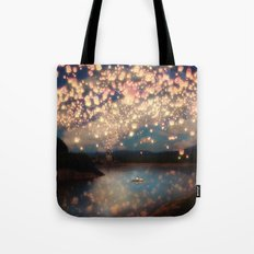 Love Wish Lanterns Tote Bag