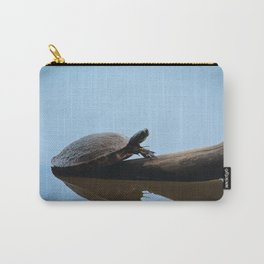 Turtle on The Lake (Color) Carry-All Pouch