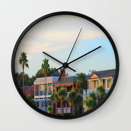 Places on the beach Wall Clock