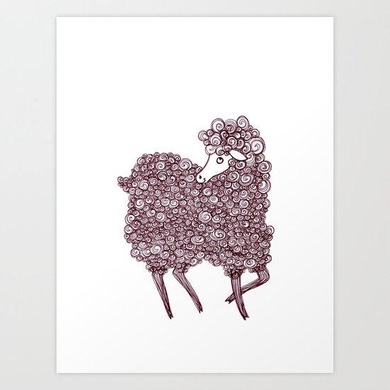 Happy Curl Art Print