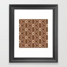 Leopard Kaleidoscope Wild Animal Print Framed Art Print