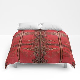 Red and Gold Thistles Comforters