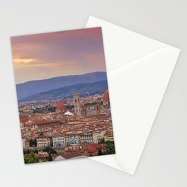 Panorama Florence, Italy. Stationery Cards