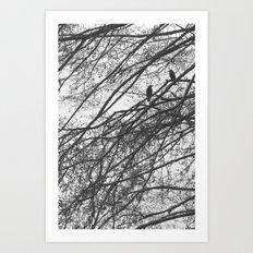 A Morning Conversation Art Print