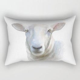 Watercolor Sheep Rectangular Pillow