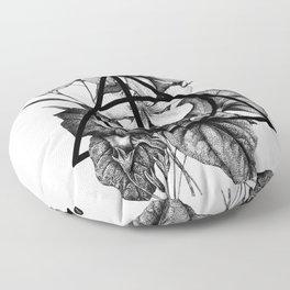 black flowers Floor Pillow