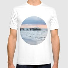North Pier  White MEDIUM Mens Fitted Tee