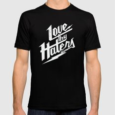 Love Thy Haters - White Mens Fitted Tee Black MEDIUM
