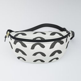 Black Brushstroke Scandinavian Design Fanny Pack