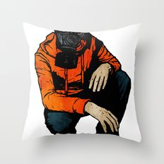 Waiting For (Inevitable) Trouble Throw Pillow