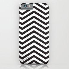 Black and white chevrons Slim Case iPhone 6s