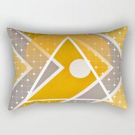 Fish - triangle sunset Rectangular Pillow