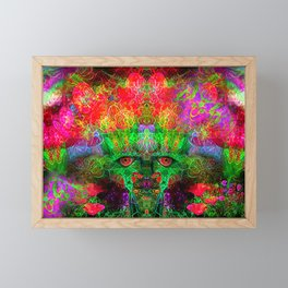 The Flower King Framed Mini Art Print