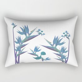 Floral Dragon Paradise 2 Rectangular Pillow