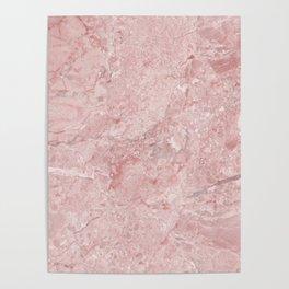 Blush Pink Marble Poster