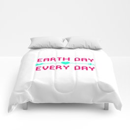 Earth Day Every Day Fun Earth Day Gift Comforters