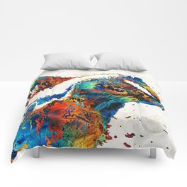 Colorful Skunk Art - Dee Stinktive - By Sharon Cummings Comforters
