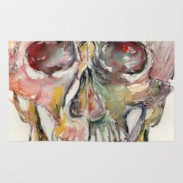 Human Skull Painting Rug