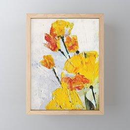 yellow flowers Framed Mini Art Print